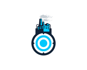 Factory Target Icon Logo Design Element