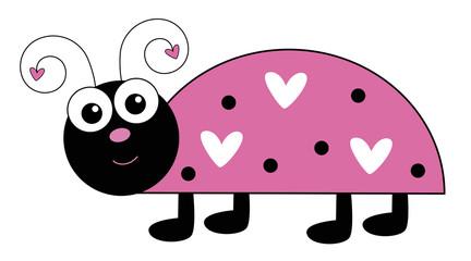 Cute Pink Ladybug