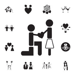 declaration of love icon. Set of Valentine's Day elements icon. Photo camera quality graphic design collection icons for websites, web design, mobile app