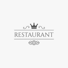 Vector restaurant logo