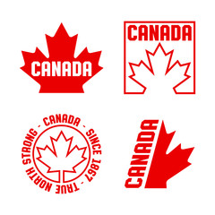 A collection of Canadian crests and badges in vector format.