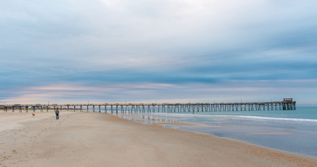 Sunrise at the Atlantic Beach Pier on Emerald Isle