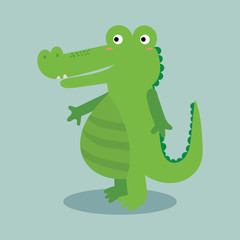 cute alligator vector