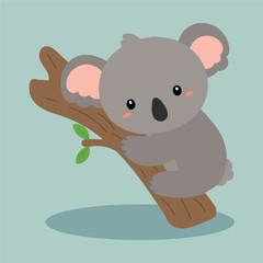 cute koala vector