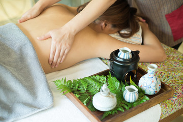 Foto op Plexiglas Spa Aromatherapy massage series: Back massage