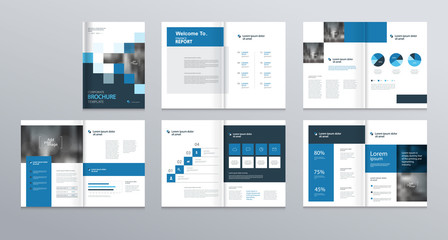 template layout design with cover page for company profile ,annual report , brochures, flyers, presentations, leaflet, magazine,book . and  vector a4 size for editable. Wall mural