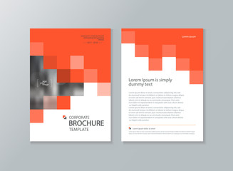business brochure, flyer ,report layout  template, with abstract cover design background