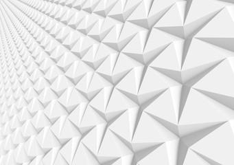 White three pointed star background