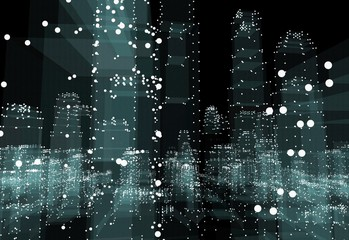 Abstract 3d city rendering