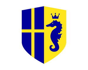 seahorses nautical marine life sweden shield