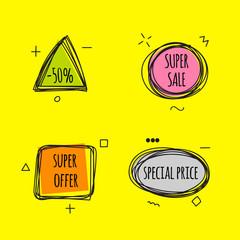 Set tags sale