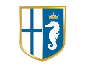 seahorses nautical marine life finland shield
