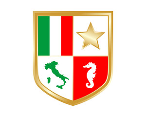italy shield seahorses nautical marine life