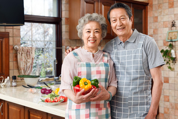 The old couple are in the kitchen