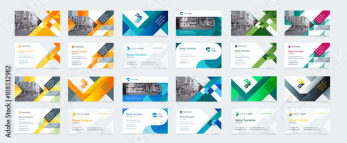 Vector creative business card template with triangles squares vector creative business card template with triangles squares round waves for business accmission Gallery
