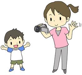 ビデオ撮影 親子