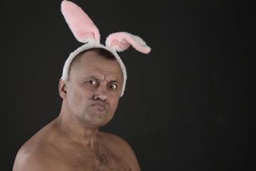 man in rabbit ears