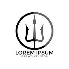Trident logo and symbols template vector design.