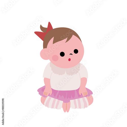 赤ちゃん イラスト おすわりfotoliacom の ストック画像とロイヤリティ