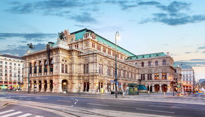 Photo sur Toile Vienne Vienna Opera house, Austria