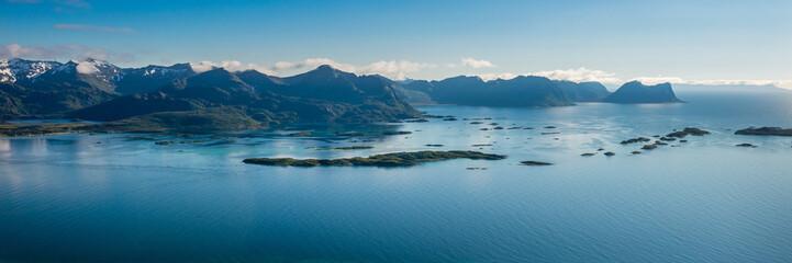Norwegian fjord ,island Senja