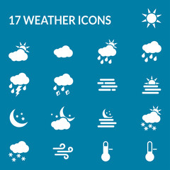 Weather and forecast icons