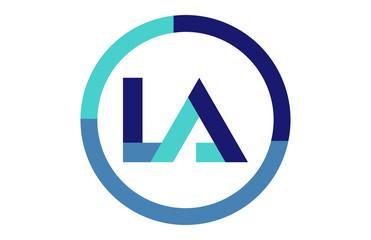 LA Global Circle Ribbon Letter Logo