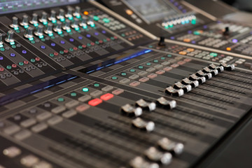 digital audio mixing console