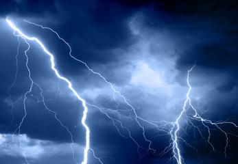 Summer storm bringing thunder, lightnings and rain