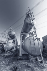 Oil storage tank in petrochemical factory