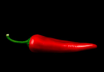 Canvas Prints Hot chili peppers Red hot chili pepper isolated on black background cutout
