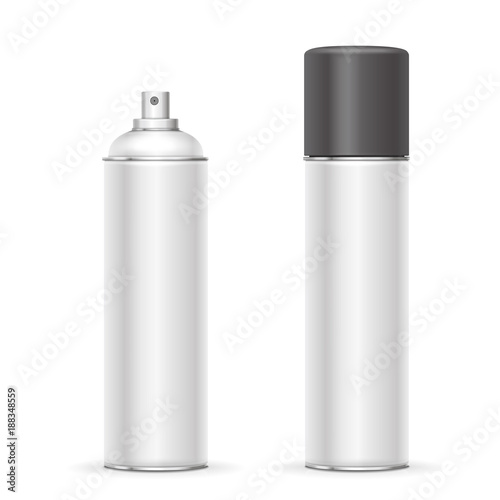 Aerosol Spray Metal Bottle Can Deodorant Or Paint Template Stock