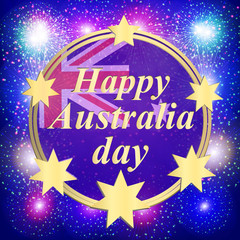 Happy Australia day background. Illustration.