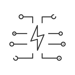 Device charging linear icon