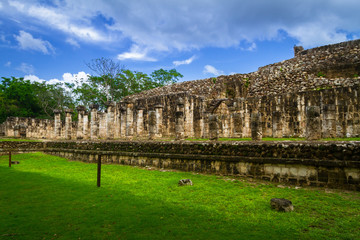 The Temple of Thousand Warriors in Chichen Itza, Mexico