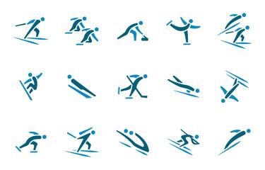 Wintersport Icon - Blau
