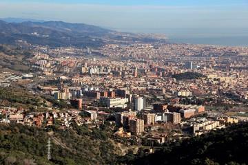 Fototapete - Vue de Barcelone depuis le Mont Tibidabo, Espagne