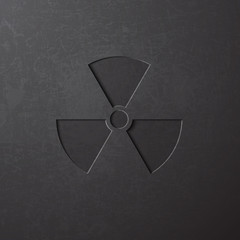 Radiation / radioactive / nuclear sign