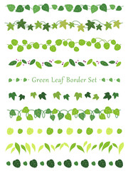 緑の葉のボーダーセット