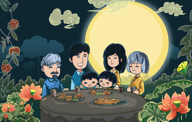 Mid Autumn Festival reunion