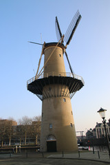 "Windmill ""Kameel"" in city of Schiedam"