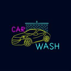 Car wash logo on a dark background