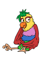 kleurige vogel