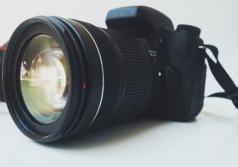 camera on white background.
