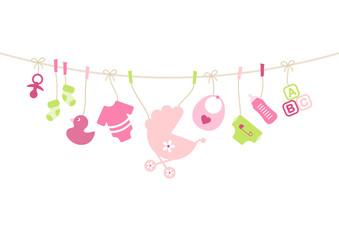 Girl Baby Symbols Hanging