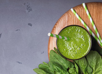 Fresh and healthy spinach smoothie