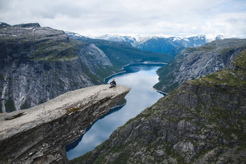 Man on Skjeggedal Rock