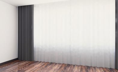Blank room. 3D rendering.