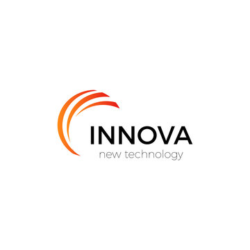 Innovation technology company abstract vector logo template.