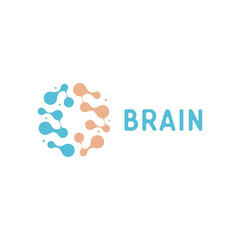 Neurons and symapses icon. Human brain connections. Neural network, memory atlas, minimal design vector logo.